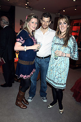 Left to right, KATE NAYLOR, TOM AIKENS and LUCY BEAUMONT at the Linley Christmas party at their store at 60 Pimlico Road, London on 19th November 2008.