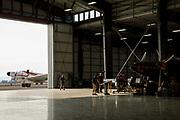 Visitors looking at the Erickson Aircraft Collection.