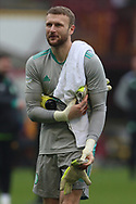 Scott Bain (Celtic) during the Scottish Premiership match between Motherwell and Celtic at Fir Park, Motherwell, Scotland on 8 November 2020.