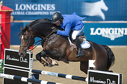 Schroder Gerco (NED) - Callahan<br />  CSI5* Longines Global Champions Tour London 2013 <br /> © Hippo Foto - Jon Stroud
