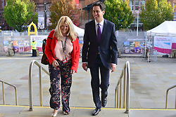 © Licensed to London News Pictures. 03/10/2012. Manchester, UK Leader of the Labour Party Ed Miliband arrives on Day 5 at The Labour Party Conference at Manchester Central today 3rd october 2012. Photo credit : Stephen Simpson/LNP