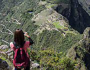 Machu Picchu as seen from the Huaynapicchu summit.