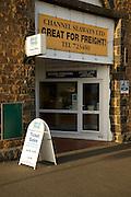 Channel Seaways shipping ticket,office, St Peter Port, Guernsey, Channel Islands, UK