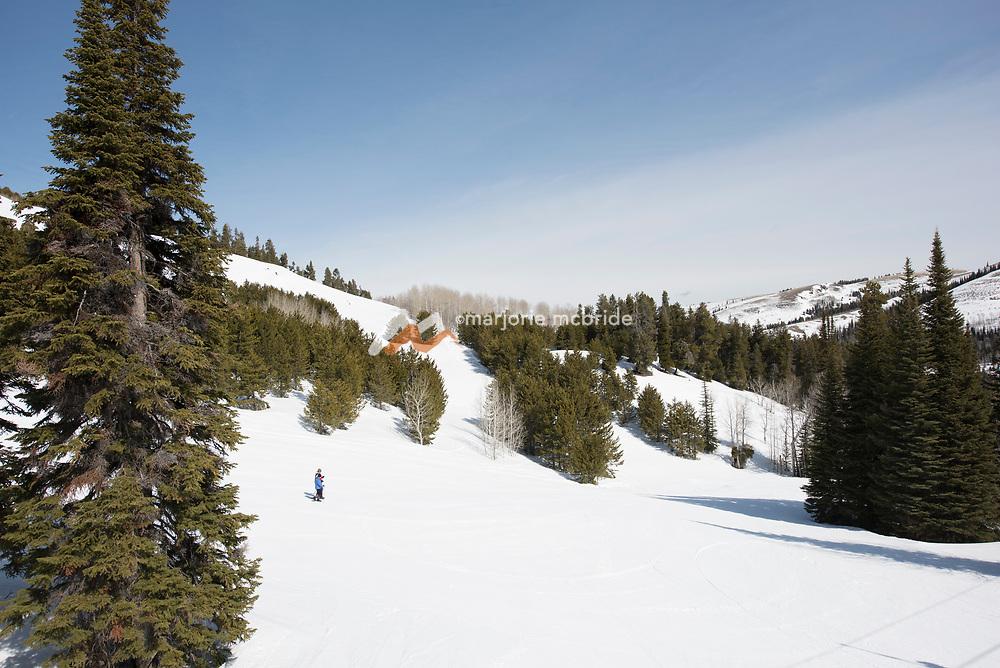 Hiking during winter at Magic Mountain Ski Resort in Southern Idaho.