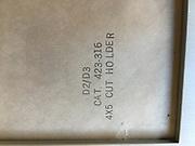 """Omega D2 Enlarger; 4""""x 5"""" film holder."""