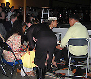 Jada Pinkett Smith & Malcolm X Daughter with Muhammad Ali  .**EXCLUSIVE**.A Night to Remember the Champ .TASCHEN and Art Basel host the unveiling of the Book GOAT - Greatest Of All Time, a tribute to Muhammad Ali. .Miami Beach Convention Center - Muhammad Ali Hall.Miami Beach, FL, USA.Saturday, December, 06, 2003 .Photo By Celebrityvibe.com/Photovibe.com...