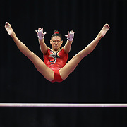 Kyla Ross, Aliso Viejo, California, winning the Uneven Bars competition during the Senior Women Competition at The 2013 P&G Gymnastics Championships, USA Gymnastics' National Championships at the XL, Centre, Hartford, Connecticut, USA. 17th August 2013. Photo Tim Clayton