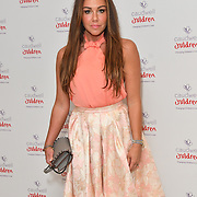 Michelle Heaton attends the Children's charity hosts fashion and beauty lunch event, with live entertainment at The Dorchester, London, UK. 12 October 2018.