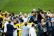 France players celebrate at the final whistle during the 2018 FIFA World Cup Russia, final football match between France and Croatia on July 15, 2018 at Luzhniki Stadium in Moscow, Russia - Photo Tarso Sarraf / FramePhoto / ProSportsImages / DPPI