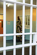 The wing Christmas tree. Beaufort House, a skill development unit for enhanced prisoners. Part of HMP/YOI Portland, a resettlement prison with a capacity for 530 prisoners.Dorset, United Kingdom.