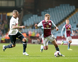 Aston Villa's Marc Albrighton is closed down by Tottenham Hotspur's Kyle Walker  - Photo mandatory by-line: Nigel Pitts-Drake/JMP - Tel: Mobile: 07966 386802 24/09/2013 - SPORT - FOOTBALL -  Villa Park - Birmingham - Aston Villa v Tottenham Hotspur - Round 3 - Capital One Cup