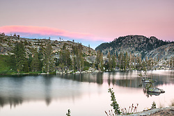 """""""Paradise Lake Sunset 7"""" - Photograph of Paradise Lake, shot at sunset."""