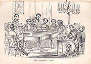 The harmonic Club The man of pleasure's illustrated pocket-book for 1850 : displaying at one glance the varied attractions of this great metropolis ; with correct details of the saloons, club & night houses, ball, concert & billiard rooms, casinos, comical clubs, theatres, introducing houses; in fact, all pleasures that possess 'a local habitation and a name' are fully and accurately described, rendering it a Complete and gentlemanly night guide ; it also contains the annual routine of sporting information derived from authentic sources, combining the appurtenances of a General pocket-book and almanac. ; enclosed in a secret pocket are cards of address of a select few attractive lasses of this our 'little village,' with some 'shields' for cyprian war ; enriched with forty esplendid engravings