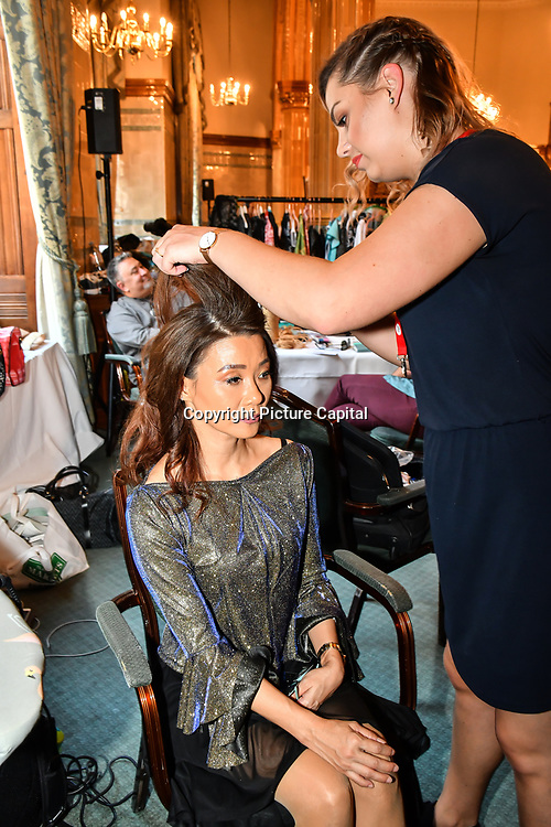 Backstage at the London Pacific Fashion Week 2019 at Royal Horseguards Hotel, on 13 September 2019, London, UK.