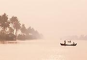 Fishermen in the Kerala Backwaters, near Alappuzha, India
