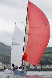 25th Anniversary of Kip Regatta<br /> <br /> - Yachting<br /> <br /> Rod Stuart and John Highcock onboard Aurora, GBR 7737, a Corby 37.