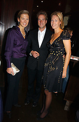 Left to right, DAVINA BARBER she was Davina Duckworth-Chad and BEN & MARINA FOGLE at The Christmas Cracker - an evening i aid of the Starlight Children's Charity held at Frankies, Knightsbridge on 13th December 2006.<br />