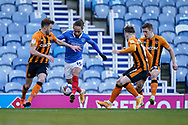 Marcus Harness of Portsmouth in action during the EFL Sky Bet League 1 match between Portsmouth and Hull City at Fratton Park, Portsmouth, England on 23 January 2021.