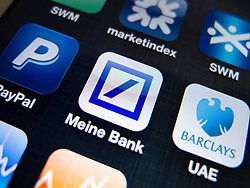 detail of Deutsche Bank banking app on iPhone screen