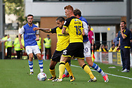 Burton Albion striker Sean Scannell (9) plays the ball during the EFL Sky Bet Championship match between Burton Albion and Sheffield Wednesday at the Pirelli Stadium, Burton upon Trent, England on 26 August 2017. Photo by Richard Holmes.