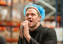 © Licensed to London News Pictures.03/06/2016. Bristol, UK. WILL YOUNG performs on BBC Music Day across the UK, at Pukka Herbs, producer of herbal teas and well-being supplements, in Aztec West. Photo credit: Simon Chapman/LNP