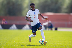 NEWPORT, WALES - Friday, September 3, 2021: England's Zak Sturage during an International Friendly Challenge match between Wales Under-18's and England Under-18's at Spytty Park. (Pic by David Rawcliffe/Propaganda)