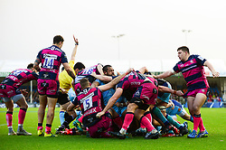 Tom Lawday of Exeter Chiefs scores a try - Mandatory by-line: Dougie Allward/JMP - 08/12/2018 - RUGBY - Sandy Park Stadium - Exeter, England - Exeter Chiefs v Gloucester Rugby - European Rugby Champions Cup