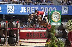 Lejeune Philippe (BEL) - Nabab de Reve<br /> W.E.G. Jerez de la Fronteira  2002<br /> Photo © Hippo Foto