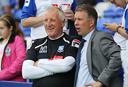 Tranmere Rovers' manager Ronnie Moore and Peterborough United's manager Darren Ferguson  - Photo mandatory by-line: Joe Dent/JMP - Tel: Mobile: 07966 386802 24/08/2013 - SPORT - FOOTBALL - Prenton Park - Birkenhead -  Tranmere Rovers V Peterborough United - Sky Bet League One