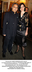 Screenwriter HANIF KUREISHI and his wife at an award ceremony in London on 11th February 2004.PRN 177