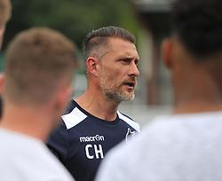 Bristol Rovers development coach Chris Hargreaves gives a team briefing - Mandatory by-line: Paul Knight/JMP - 18/07/2017 - FOOTBALL - Viridor Stadium - Taunton, England - Taunton Town v Bristol Rovers XI - Pre-season friendly