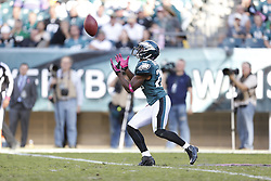 Philadelphia Eagles cornerback Brandon Boykin (22) catches a kick during the NFL game between the Detroit Lions and the Philadelphia Eagles on Sunday, October 14th 2012 in Philadelphia. The Lions won 26-23 in Overtime. (Photo by Brian Garfinkel)