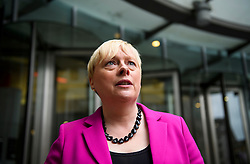 © Licensed to London News Pictures. 10/07/2016. London, UK. Labour MP ANGELA EAGLE leaves BBC Broadcasting House in London after appearing on Sunday Politics show, on July 10, 2016. Angela Eagle is expected to announce her bid for the leadership of the Labour Party. Photo credit: Ben Cawthra/LNP