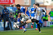 Chesterfield midfielder Zavon Hines (41) and Notts County midfielder Jorge Grant (10)   during the EFL Sky Bet League 2 match between Chesterfield and Notts County at the Proact stadium, Chesterfield, England on 25 March 2018. Picture by Nigel Cole.