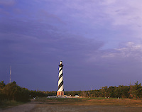 AA03198-01...NORTH CAROLINA - Sunrise at Cape Hatteras Light on the Outer Banks in Cape Hatteras National Seashore.