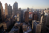 New York City Skyline as seen from One Central Park West #35G in Trump International Hotel and Tower is on sale for $15 million.<br /> <br /> Photo by Robert Caplin