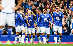 Everton's Steven Naismith celebrates after scoring his sides third goal and hat-trick - Mandatory byline: Matt McNulty/JMP - 07966386802 - 12/09/2015 - FOOTBALL - Goodison Park -Everton,England - Everton v Chelsea - Barclays Premier League