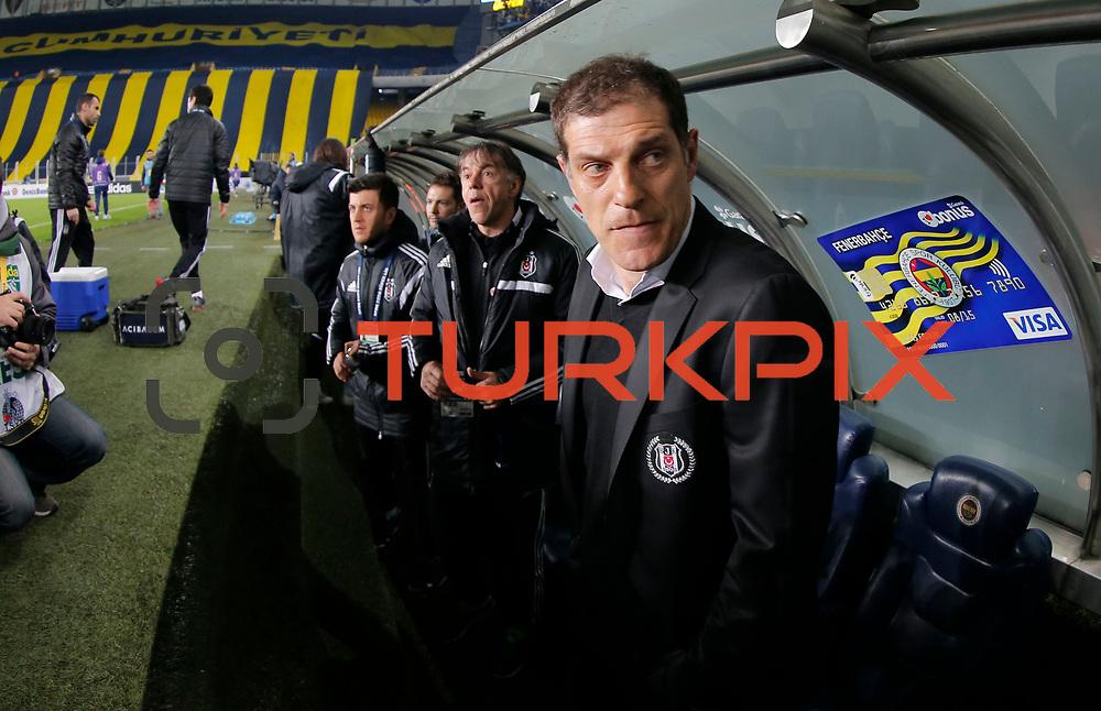 Besiktas's coach Slaven Bilic during their Turkish superleague soccer derby Fenerbahce between Besiktas at the Sukru Saracaoglu stadium in Istanbul Turkey on Sunday 22 March 2015. Photo by Aykut AKICI/TURKPIX