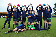 AFC Wimbledon girls youth team during the EFL Sky Bet League 1 match between AFC Wimbledon and Bolton Wanderers at the Cherry Red Records Stadium, Kingston, England on 7 March 2020.