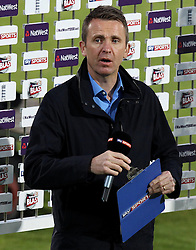 Sky Sports Presenter and former England player Dominic Cork - Photo mandatory by-line: Robbie Stephenson/JMP - Mobile: 07966 386802 - 04/06/2015 - SPORT - Cricket - Southampton - The Ageas Bowl - Hampshire v Middlesex - Natwest T20 Blast