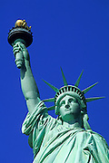 Image of the Statue of Liberty on Liberty Island in New York Harbor, New York City, New York by Randy Wells