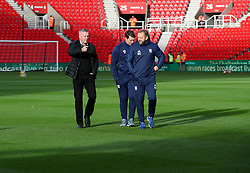 Ipswich Town manager Paul Lambert on the pitch at the Bet365 Stadium ahead of the Sky Bet Championship match between Stoke City' and Ipswich Town