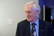 Garden City, New York, U.S. June 6, 2019. Apollo 16 astronaut CHARLIE DUKE participates in Cradle of Aviation Museum's Apollo Astronauts Press Conference during its day of events celebrating 50th Anniversary of Apollo 11.