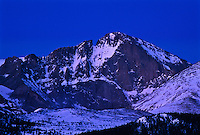 14, 255 ft. Longs Peak, 30 minutes before sunrise.  Rocky Mountain National Park, Colorado.