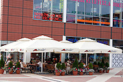 Manufactura is a remodeled textile factory for entertainment culture and shopping. Balucki District Lodz Central Poland