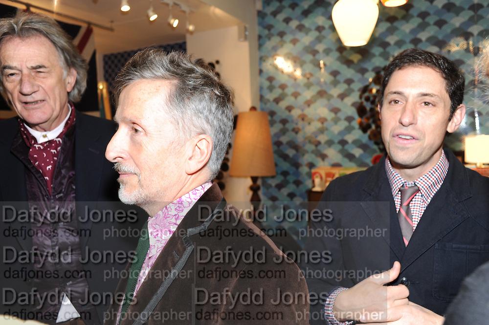 SIR PAUL SMITH; SIMON DOONAN; JONATHAN ADLER, Jonathan Adler Store opening. Sloane St. London. 16 November 2011. <br /> <br />  , -DO NOT ARCHIVE-© Copyright Photograph by Dafydd Jones. 248 Clapham Rd. London SW9 0PZ. Tel 0207 820 0771. www.dafjones.com.