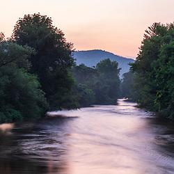 Dawn on the Battenkill River in Shushan, New York near the Vermont border.