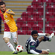Galatasaray's Emre COLAK (L) during their Turkish Super League soccer match Galatasaray between Kasimpasaspor at the TT Arena at Seyrantepe in Istanbul Turkey on Monday 09 May 2011. Photo by TURKPIX