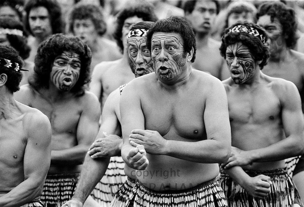 Traditional maori ceremony and war dance, New Zealand