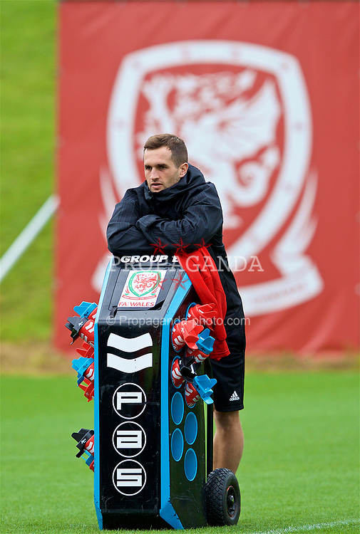 CARDIFF, WALES - Saturday, September 8, 2018: Wales' masseur Chris Senior during a training session at the Vale Resort ahead of the UEFA Nations League Group Stage League B Group 4 match between Denmark and Wales. (Pic by David Rawcliffe/Propaganda)